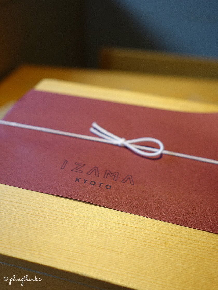 IZAMA Kyoto Shijo Japan - Lunch bento box design
