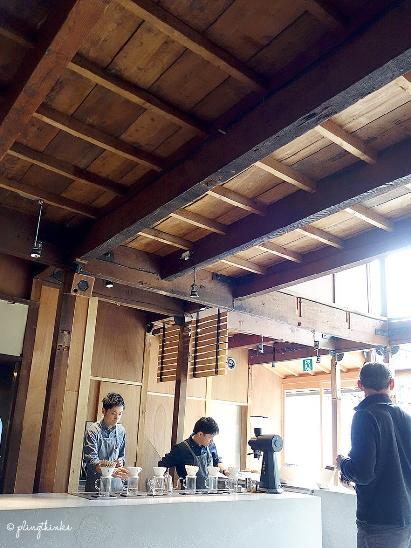 Blue Bottle Coffee Kyoto - Cafe Wooden Ceiling