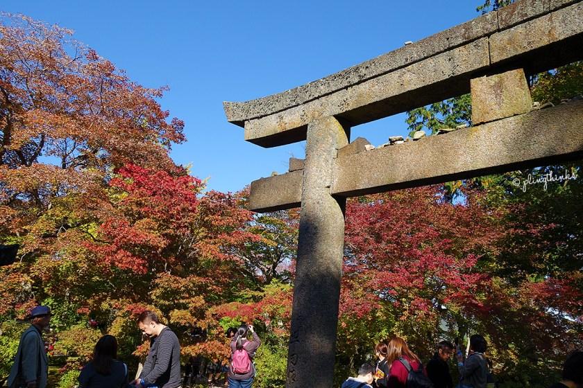 Jojakko-ji Temple Autumn Colors at Resting Area - Kyoto Arashiyama