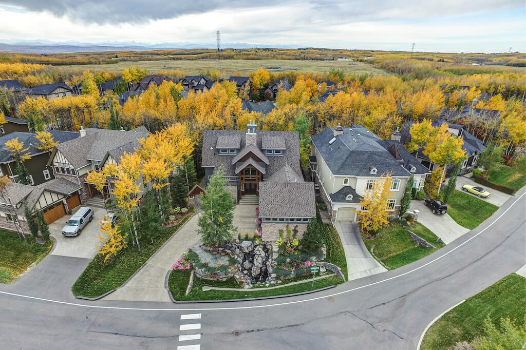 Aerial-40-Wentwillow-lane-SW-west-springs-real-estate-for-sale-plintz-Realtor-calgary-sothebys-Luxury