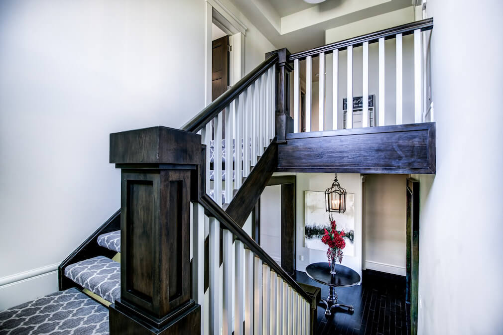 Staircase-wood-20-October-Gold-Gate-Elbow-Valley-For-Sale-Realtor-Plintz-Luxury-Real-Estate-Calgary-Sothebys