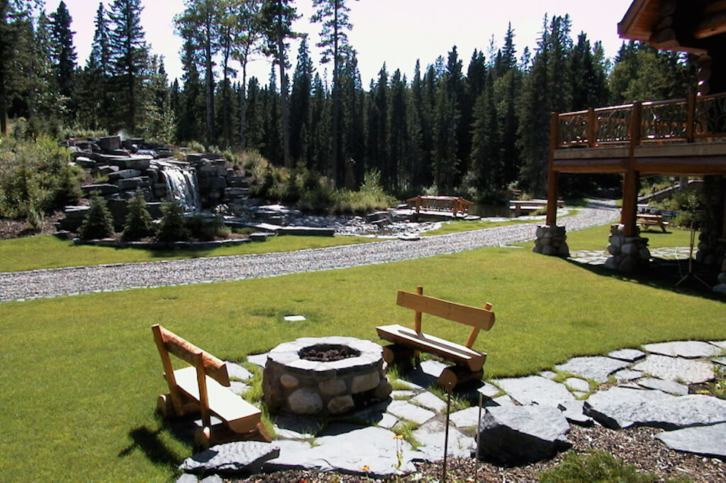 Outdoor-firepit-352248-Pine-Ridge-Road-Bragg-Creek-Ranch-Acreage-For-Sale-Calgary-Real-Estate-For-Sale-taylor-sothebys-pond
