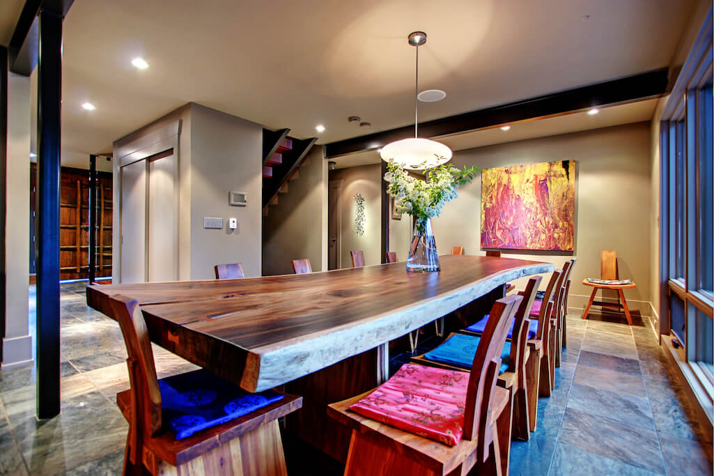 Wooden-table-1219-Beverley-Boulevard-SW-Belaire-Calgary-Realtor-plintz-real-estate-luxury-home-for-sale-house