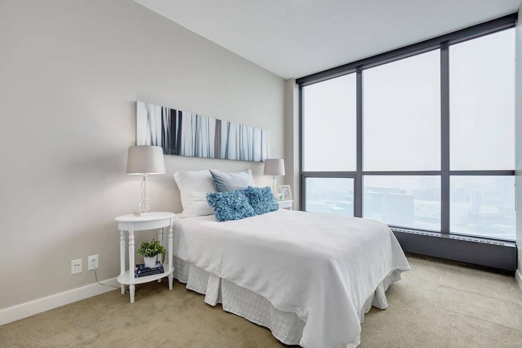 bedroom-views-2402-225-11-Avenue-SE-Keynote-Condo-Victoria-Park-Beltline-Calgary-Real-Estate-Plintz-Realtor-Luxury