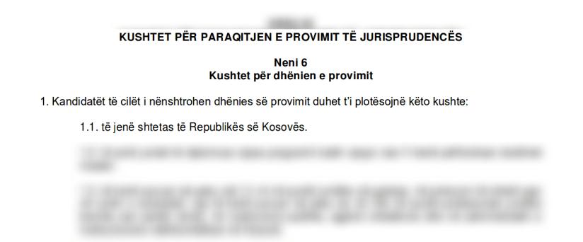 Ligji për provimin e jurisprudencës