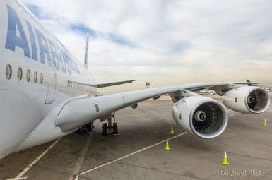 Airbus A380 super jumbojet at LAX airport in Los Angeles