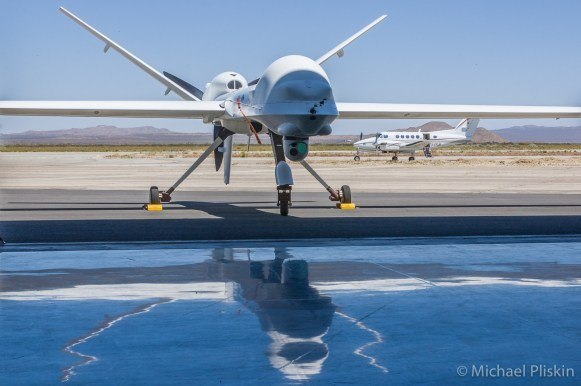 General Atomics RQ-1/MQ-1 Predator drone outfitted for Scientific research for NASA.
