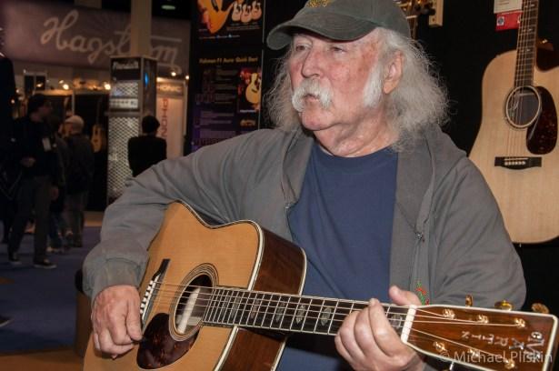 David Crosby at C.F. Martin Guitars at NAMM 2011