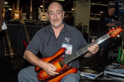 Dave Mason (Traffic) at RKS booth at NAMM 2007