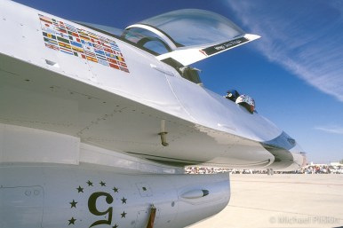 USAF Thunderbirds solo plane