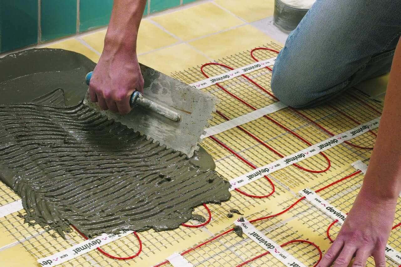 Aturan instalasi dasar untuk lantai yang dipanaskan