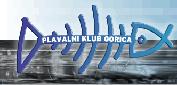 """Знак пливачког клуба """"Нова Горица"""" и линк на њихову званичну страницу"""
