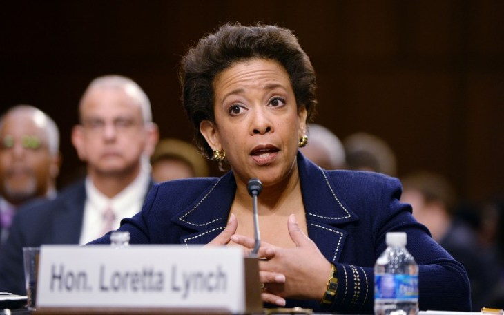 U.S. Attorney for the Eastern District of New York Loretta Lynch testifies during a confirmation hearing before the Senate Judiciary Committee on Wednesday, Jan. 28, 2015, in Washington, D.C. Lynch will succeed Eric Holder to be the next U.S. Attorney General if confirmed by the Senate. (Olivier Douliery/Abaca Press/TNS)