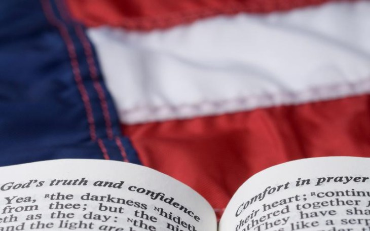 American flag and Bible