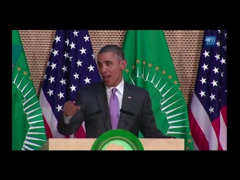 'First Kenyan-American' president, Obama, tells Africans that America would elect him to third term
