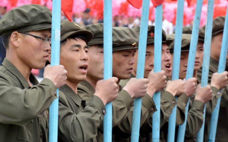 North Korean working men