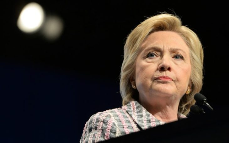 Presumptive Democratic nominee Hillary Clinton addresses the national convention of the Veterans of Foreign Wars on July 25, 2016 in Charlotte, N.C.Republican nominee Donald Trump will speak to the same group on Tuesday. (Tom Gralish/Philadelphia Inquirer/TNS)