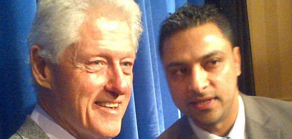 Bill Clinton and Imran Awan