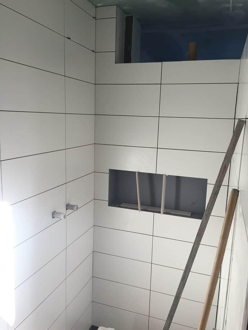 Duschablage - Unser Ablagefach in der gemauerten Dusche
