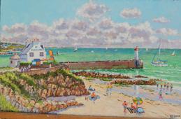b-La plage du Raoulic a Audierne