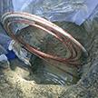 Deuxième étape d'un remplacement d'entrée d'eau par tirage