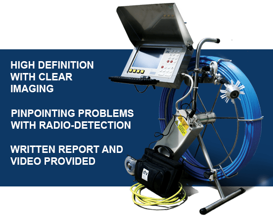 Precise imaging for inspecting plumbing drains and pipes