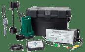 Emergency backup battery sump pump