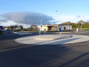 Décembre, mise en service du rond point de la Za de Kerlavar