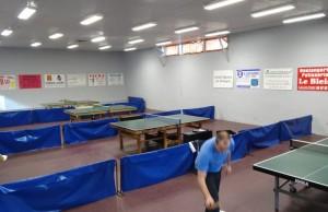 Salle de tennis de table