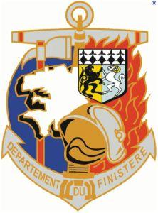 Le blason des sapeurs-pompiers du Finistère