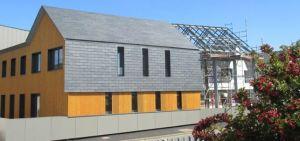 Le siège de la CCHPB en chantier (photo Pierre BRULE, architecte)