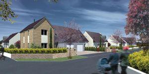 Perspective des maisons en location-accession à Kersulec