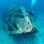 Kroatien, Peljesac, Zuljana, Tauchen, S-57 Schnellboot Wrack