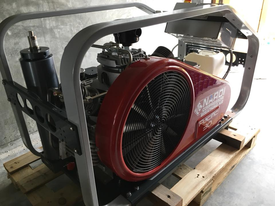 Side view of Nardi Pacific 30 compressor