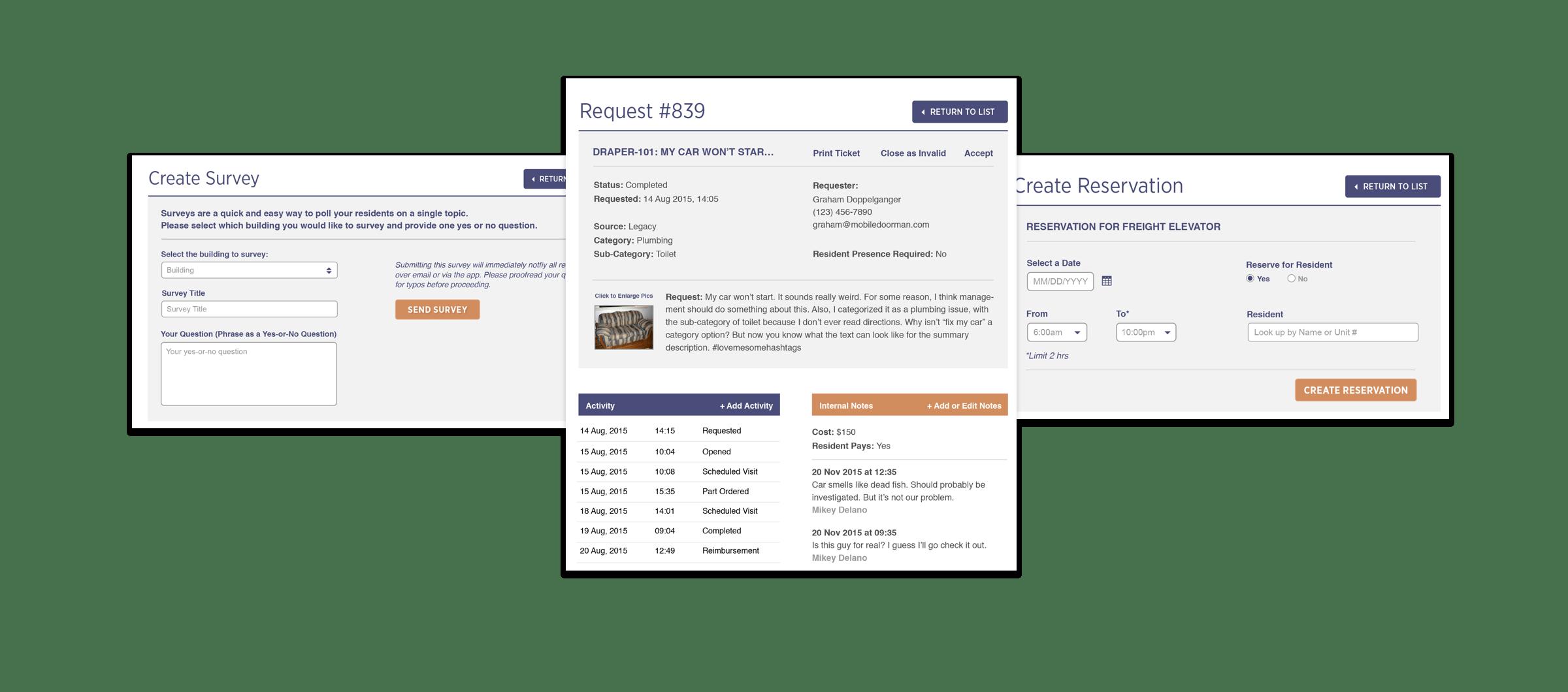 Mobile Doorman Web App · PLOT CREATIVE STUDIO