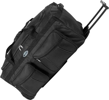 Wheeled duffel bag makes changing hospital rooms a breeze