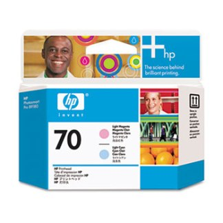 HP 70 Light Magenta Light Cyan Printhead