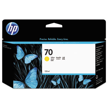 HP 70 Yellow Original Ink Cartridge 130ml