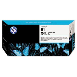 HP 81 Black Printhead and Cleaner