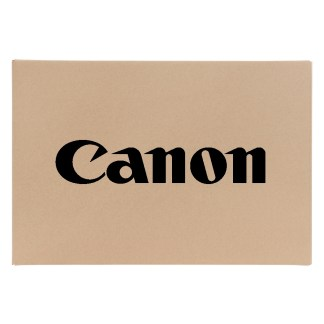 Canon Logo on brown background