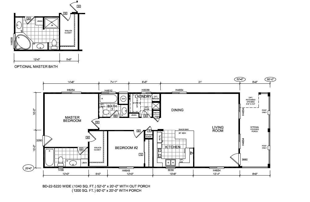 1974 Mobile Home Floor Plans