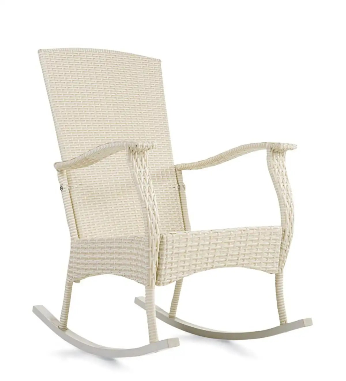 Wicker Rocking Chair Outdoor Or Indoor Wicker Rocking Chair With Steel Frame Plowhearth