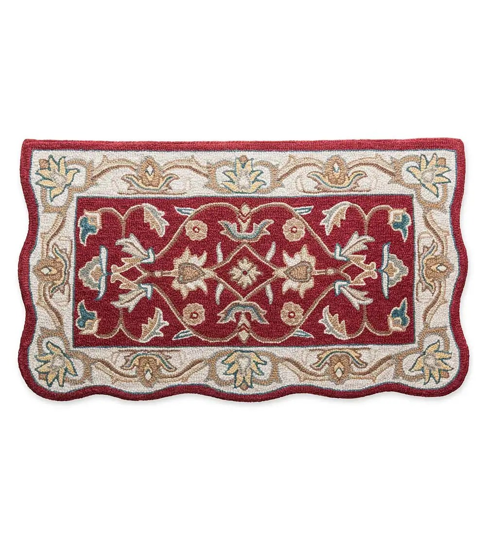 Nia Hand-tufted Traditional Wool Hearth Rug