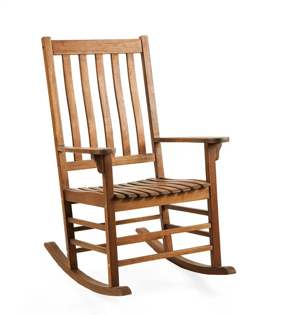 Slatted Wooden Rocking Chair  Made of FSCcertified
