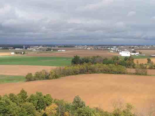 panoramic view of farmland