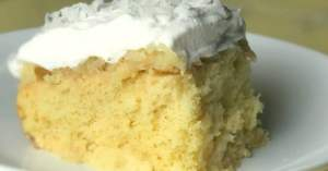 piece of pina colada cake
