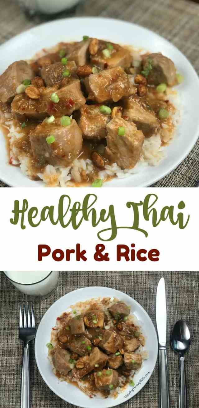 healthy thai pork and rice