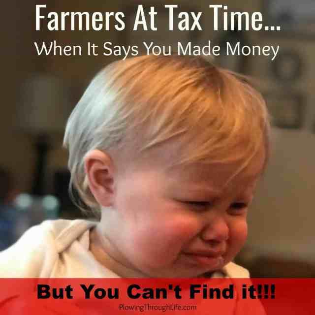 farmer at tax time