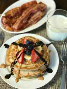 pancake and bacon