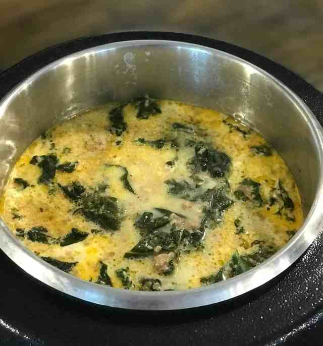 Potato and Kale Soup with Zesty Sausage
